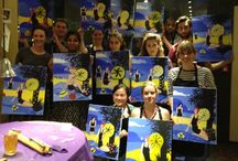Events / Our events are social painting experiences. Most of our guests haven't painted before, or since school, but look at what incredible paintings they've produced!   Our events PopUp all across London, Surrey, and St. Albans. Check out popuppainting.com/events and come along!