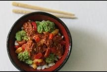 tutorials: food (main dishes & sides) / Video tutorials for 1/12th scale meat and main dishes