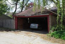 Before and After Pictures / Garage Board featuring before and after photos of garages