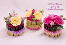 Цветы с конфетками