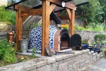 Pizza oven mosaic