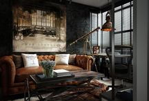 Fremtidig Mancave / Steampunk Clockwork Industrial Victorian Futurism Bar Interior