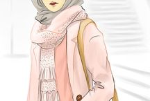 Hijab İllustration Drawing