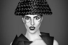 geometric makeup project / makeup by Nadrah Mehmedovic
