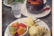 BRUNCH ITEMS 9am-4pm DAILY / All Breakfast Dishes are Served with Home Potatoes,Fresh Seasonal Fruit or Grits Unless Noted.  Egg White Substitutes Please Add $2 Extra  Served 9am-4pm Daily
