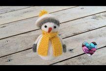 bonhomme de neige au tricot