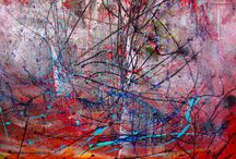 Abstract art close ups. / Close up and details of my abstract work. Very close