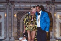 Queen B and Jay-Z