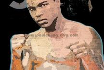 Black ... Mohammed Ali - Casius Clay - Muhammed Ali