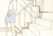 계단, 거실, 침실, 화장실, 놀이터, 공원