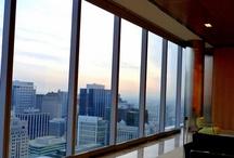 "Dirk Lohan / The grandson of Mies van der Rohe, Dirk Lohan, is designing the lobby of The Langham, Chicago, opening summer 2013 in van der Rohe's ""IBM Building"" at 330 N. Wabash."