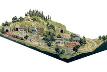 The Grand home model train layout in HO scale