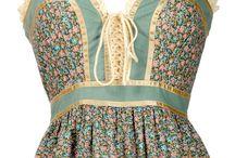 Folk and vintage dresses