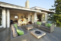 Outdoor Seclusion / Creating an  indoor/outdoor space, incorporating water feature.