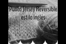 punto jersey reversible estilo inglés  doble faz.