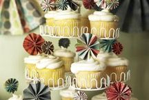 Cupcake Toppers / My favorite way to dress up a tiny cake - cupcake toppers! DIY