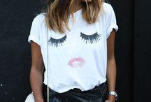 WHITE SHIRT - looks & inspo / White T-Shirt Blogpost for Blogger - Inspo