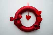 Valentine's Decoration / Handmade Valentine Wreaths