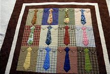 Using neckties for crafts.