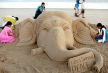 Sand Art Of India / Sand animation, also known as sand art, is a term which has two meanings. It is the name given to a style of live performance art and to a type of animation.