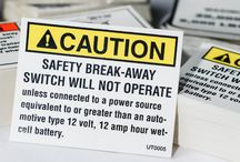 """Warning Labels & Safety Decals / Warning labels, safety decals, and other """"Caution"""" products help maintain the health and safety of everyone around. Don't ignore these little messages, embrace them and stay healthy, happy, and safe from harm."""
