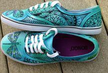 malovane boty