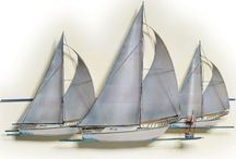 Sailboat Stuffs and more / The Hubs loves Sailboats. Board for Hubby gift ideas and décor for a nautical theme without using sea shells, beach scenes and pirate stuff.