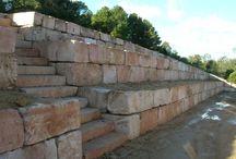 Mur oporowy / piaskowiec