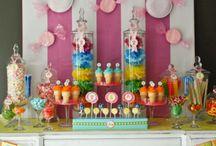 Candy land rainbow theme