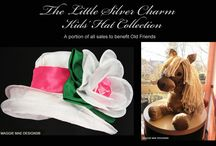 Little Silver Charm Kids Hat Collection / Hats for kids inspired by famous mini horse of Old Friends Thoroughbred Retirement facility, Little Silver Charm!