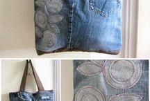 Denim jean bag