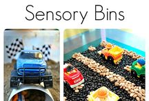 sensory trays/walls/activities