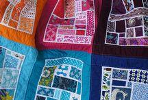 rainbow scrap quilts