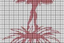 Cross stitch charts mixed