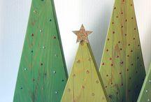 arboles de navidad madera