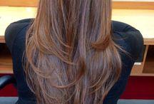 Păr lung în straturi