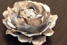 róże z foli aluminiowe