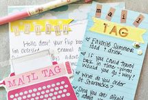 Mail Tag Ideas / Ideas to use for mail tags in my correspondence / by Elaine Mazzo