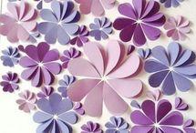 cuadros Flores de papel