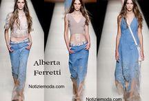 Alberta ferretti / Alberta ferretti collezione e catalogo primavera estate e autunno inverno abiti abbigliamento accessori scarpe borse sfilata donna.