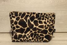 Faux fur animal print handbags / Hand seen Faux fur animal print handbags