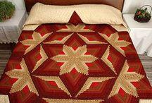 Diamond Log Cabin quilt