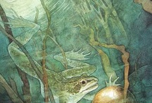 The Frog King (Iron Henry) / Fairy tale art related to The Frog King (Iron Henry).