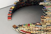 Bookcases and books arrangements