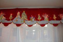 cenefas y cortinas navideñas
