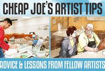 Artist Tips and Lessons / Cheap Joe's Artist Tips Library is an instructional resource of art information for beginning, intermediate, and advanced artists. These tips are published periodically with the help of our fellow artists and delivered right here for you to view (and download in many cases). So check back often! / by Cheap Joe's Art Stuff