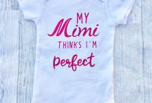 MiMi's Baby / Gift ideas for Mimi, Gigi, Yaya and all grandmothers! Because when you are a Grandma, bragging is accepted. Baby shower gifts, gifts for Grandchildren, gifts for Mimi!