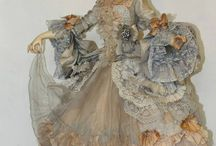 Dolls: special groups / Lenci, Martha Boers, John Burbidge (Petites Dames), Franklin Mint, boudoir dolls,