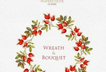 Painted Wreaths