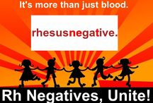 Rhesus Negatives International / Images expressing unity or the need for it for rh negative individuals worldwide.